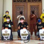 Gotong-Royong Obat Lawan Corona sampai Sirna. Rahmad Puji Gerakan Donasi, Relawan Turun Tiap Hari Semprot Disinfektan
