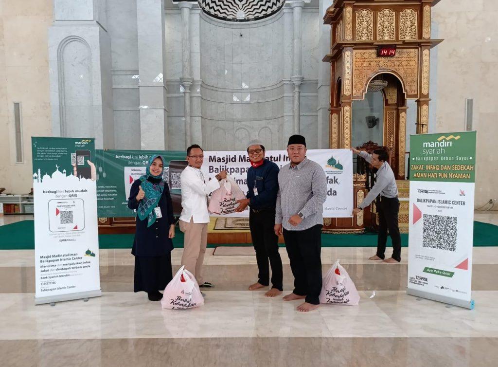 Mandiri Syariah Bantu Sembako Bic Bayar Zis Dapat Gunakan Qris Bsm